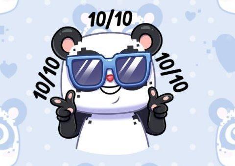 Скачать стикеры «Панда Куару» от VK Pay