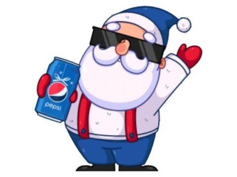 Новогодняя фишка ВКонтакте от Пепси сюрприз с поздравлением