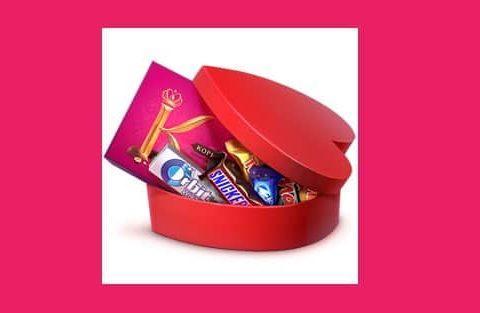 Цветок с подарками ко Дню Святого Валентина ВКонтакте